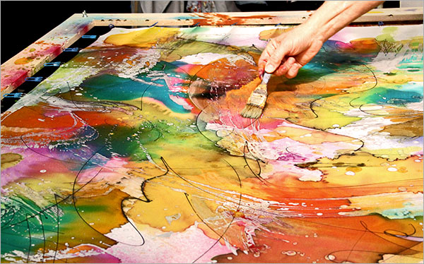 La pintura sobre seda