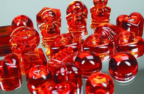 Resina cristal con pintura vitrail