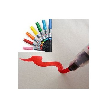 Rotulador Pincel Pentel Fudepen GFL Colores