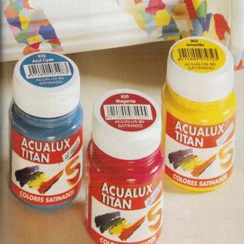 Pintura manualidades Acualux satinado 100 ml