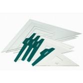 Escuadras y cartabones de plástico