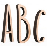 Letras madera Miss Craft 20 cm