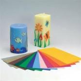 Láminas de cera para decorar velas