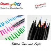 Pentel Brush Sign Pen Artist Rotulador Pincel Ultrafino