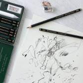 Lápiz grafito mate Faber Castell Pitt Graphite Matt