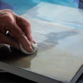 Barniz para pintura acrílica