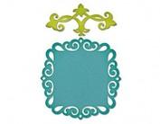 Troquel Sizzix THINLITS formas decorativas de bordes, Etiqueta, Medallon & Llave 658955