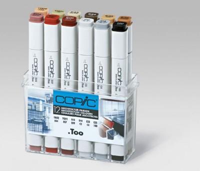Copic Marker 12 rotuladores Arquitectura C20075701
