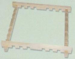 Bastidor seda madera encajes 76 x 76 cm
