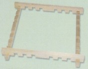 Bastidor seda madera encajes 64 x 64 cm