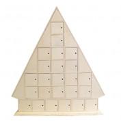 Calendario adviento árbol madera Artemio 14001418