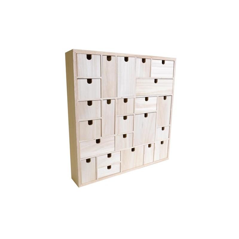 Calendario adviento 24 cajones artemio 14002001 - Calendario adviento madera ...