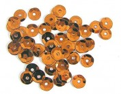 Lentejuela plateada naranja 7mm. 500gr. Z14709