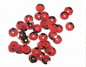 Lentejuela plateada rojo 7mm. 500gr Z14701