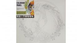Coloring Panel Cartón entelado para colorear Caballo