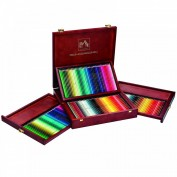 Caran d'Ache:Caja de madera 160 lápices de colores Pablo+Supracolor
