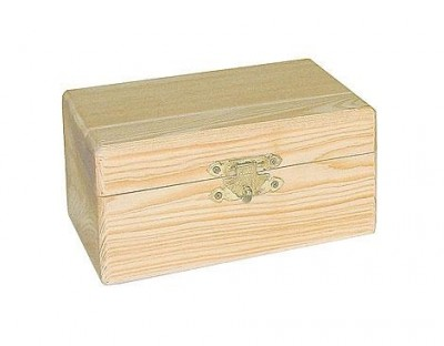 Caja madera de pino macizo rectangular 9106 17x11x7cm.