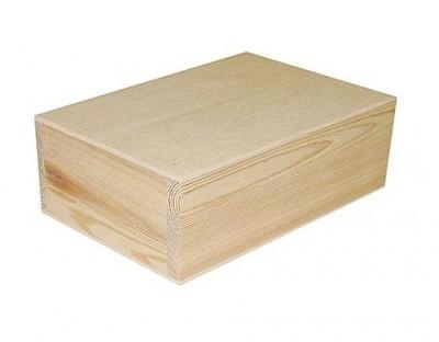 Caja de madera de pino macizo ref 10