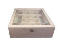 Caja vitrina expositor madera de balsa 212