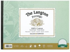 Langton Prestige Bloc papel de acuarela A4 Grano Fino 300gr 305x229 mm