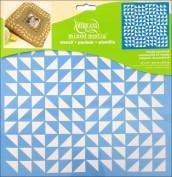 Plantilla Stencil Decoart Triangulos de patchwork