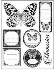 Sellos Stamperia temática Mariposas