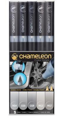 Chameleon 5 rotuladores CT0519 Tonos grises