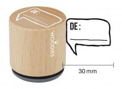 Sello de madera y caucho De