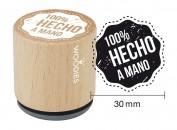Sello de madera y caucho 100 por cien Hecho a Mano 2