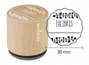 Sello de madera y caucho Exlibris 2