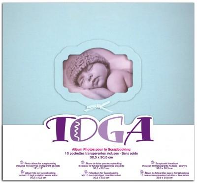 Album Scrap 30.5x30.5cm Naissance Bleu Toga