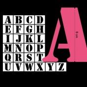 Los 26 stencils de 9cm del abecedario - Toga