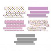 100 tiras de papel impreso quilling - 50cm - Granadinas - Toga