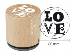 Sello de madera y caucho Love