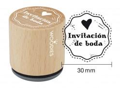 Sello de madera y caucho Invitación de boda