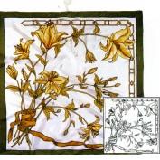 Artys's pañuelos de seda predibujados SGS451
