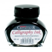 Tinta caligráfica Cretacolor 30 ml negra