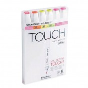 Touch Marker Brush Set 6 colores fluorescentes 1200623