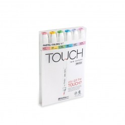 Touch Marker Brush Set 6 colores pasteles 1200616