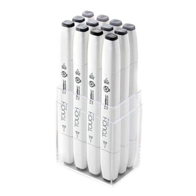 Touch Marker Brush Set 12 tonos gris frio 1211203
