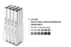 Touch Marker Brush Set 12 tonos gris cálido 1211201