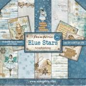 Stamperia SBBL35 Blue Stars