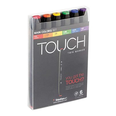 ShinHan Art TOUCH TWIN Marker Set 6 Colores principales