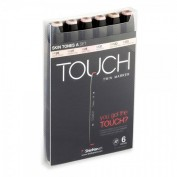 Touch Twin 6 Markers Set tono piel A