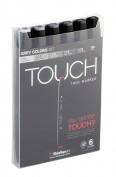 Touch Twin 6 Marker Set grises