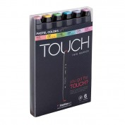 TOUCH TWIN 6 MARKER SET COLORES PASTEL