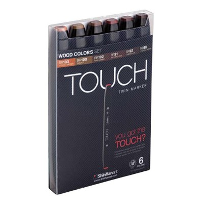 Touch Twin 6 Marker Set colores madera 1100610