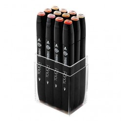Touch Twin 12 Marker Set pastel colors 1101222