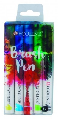 Ecoline Brush pen Set 5 rotuladores