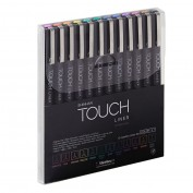 SHINHAN TOUCH LINER SET 12 ROTULADORES COLOR 0,1
